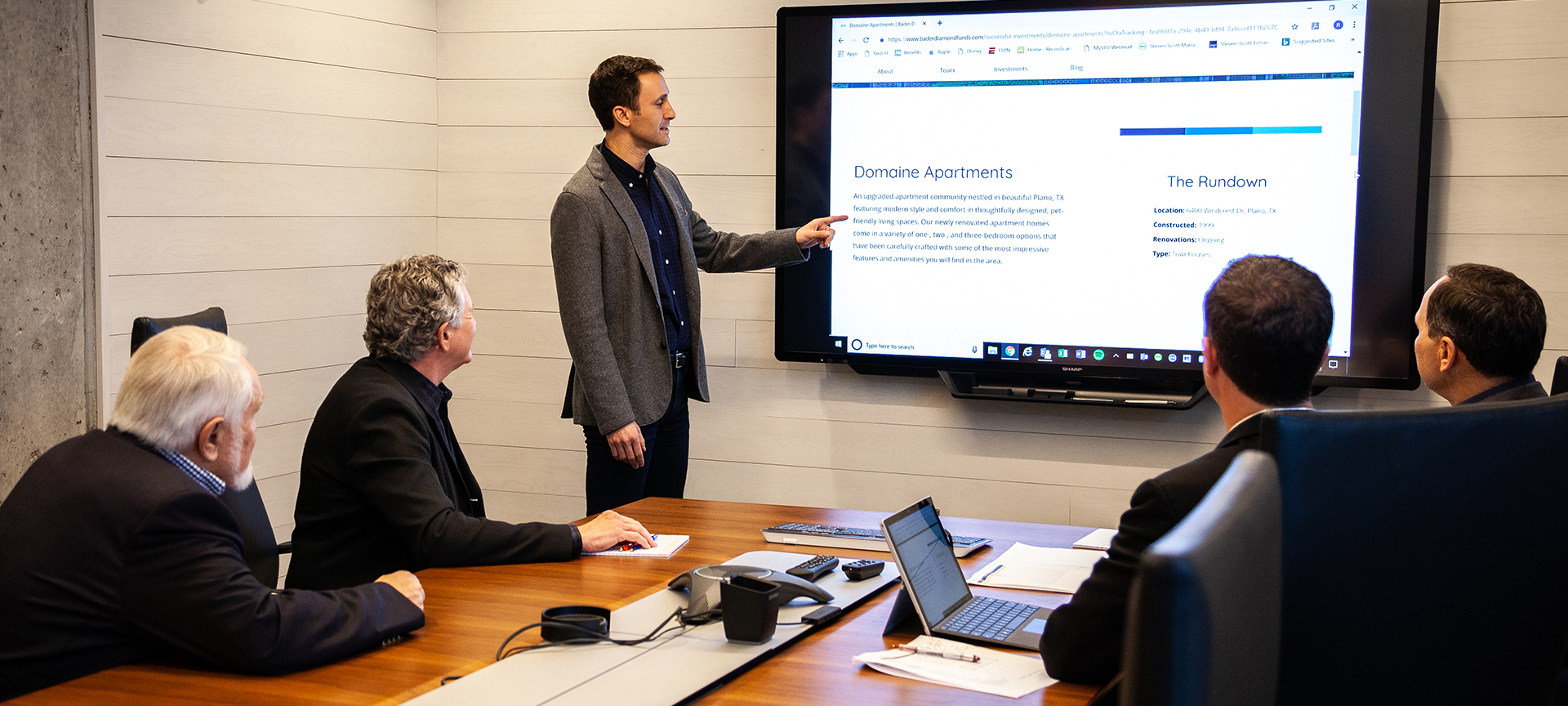 Bader Diamond Funds Team in Conference Room